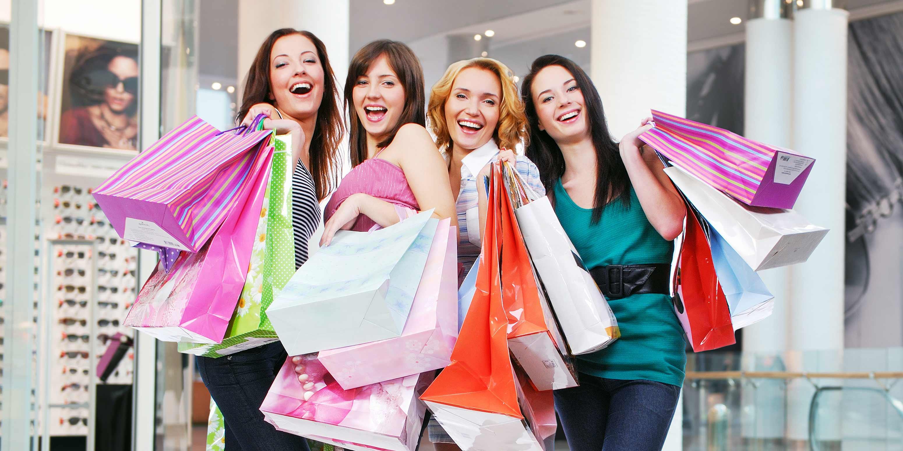Four women shoppers.
